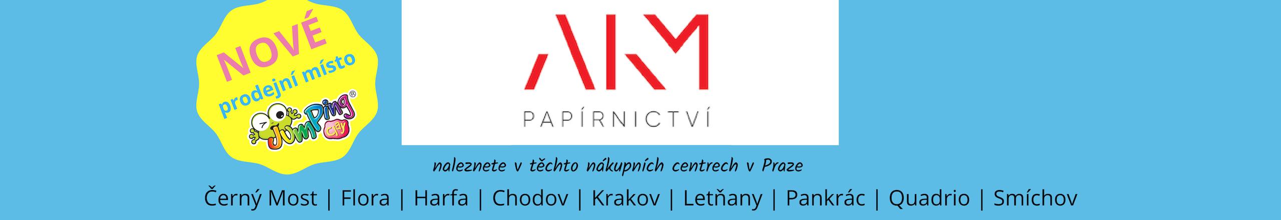Vybrané sady oblíbené modelíny JumpingClay nyní k dostání v síti papírnictví AKM v Praze