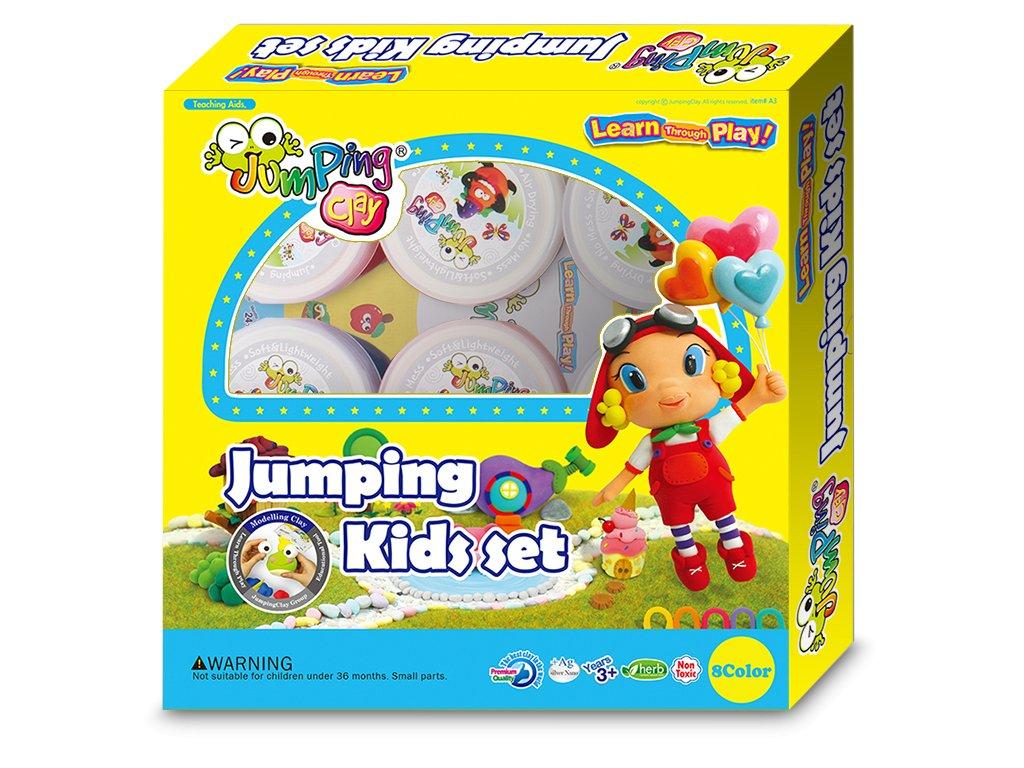 Sada 6+2 barvy JumpingClay