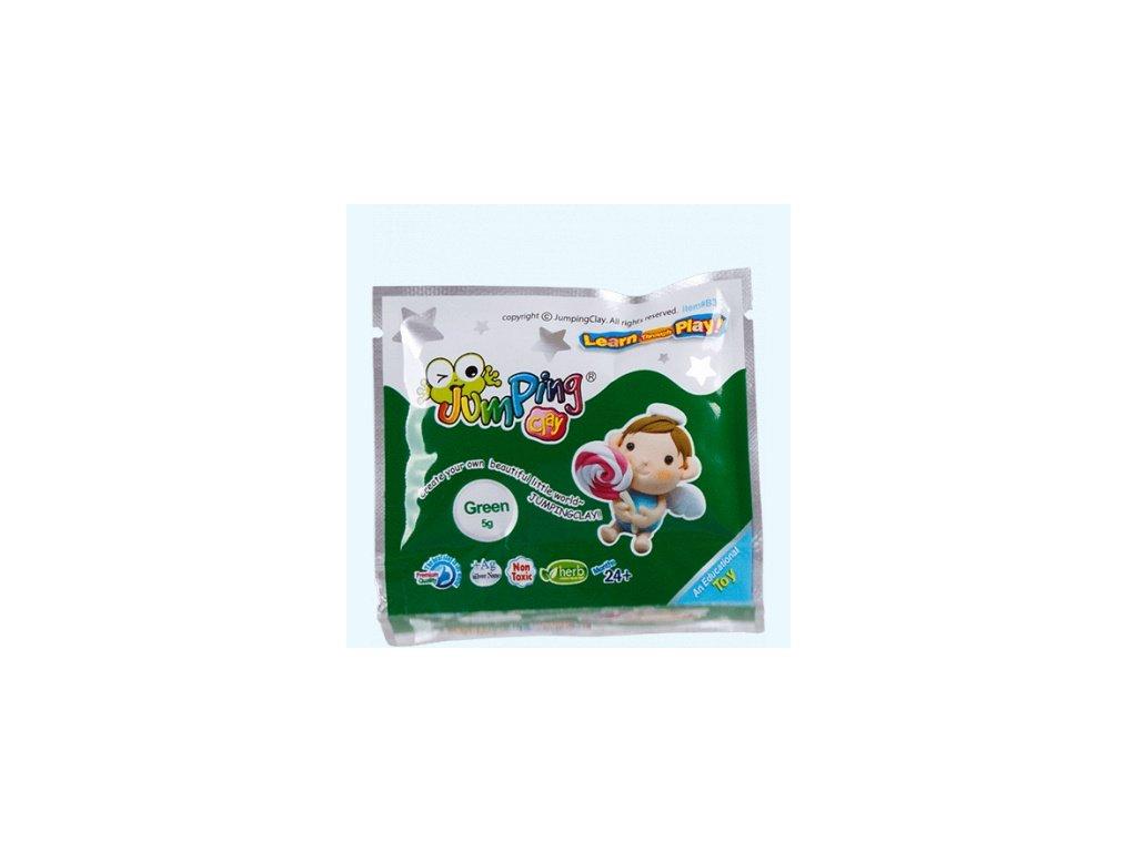 Modelína JumpingClay 5 g zelená.4jpg