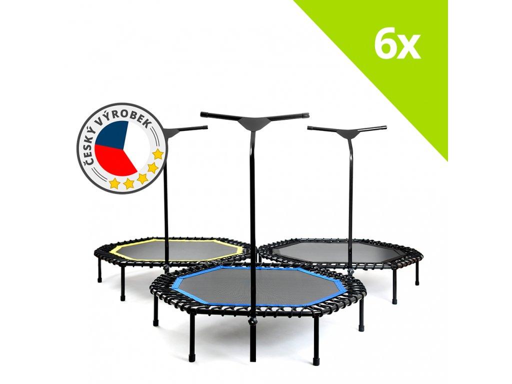 6x JumpingSPORT trampolína profi (sada)