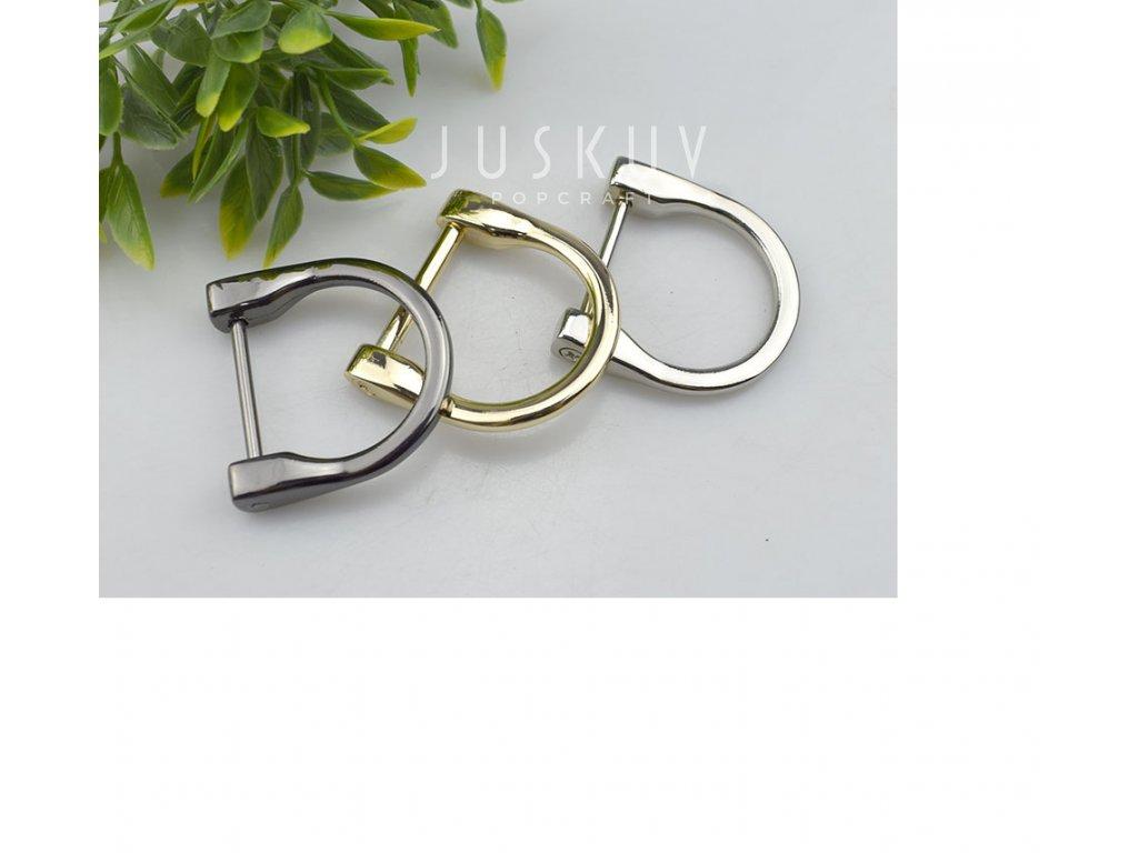 designový šroubovací průvlek 25 mm