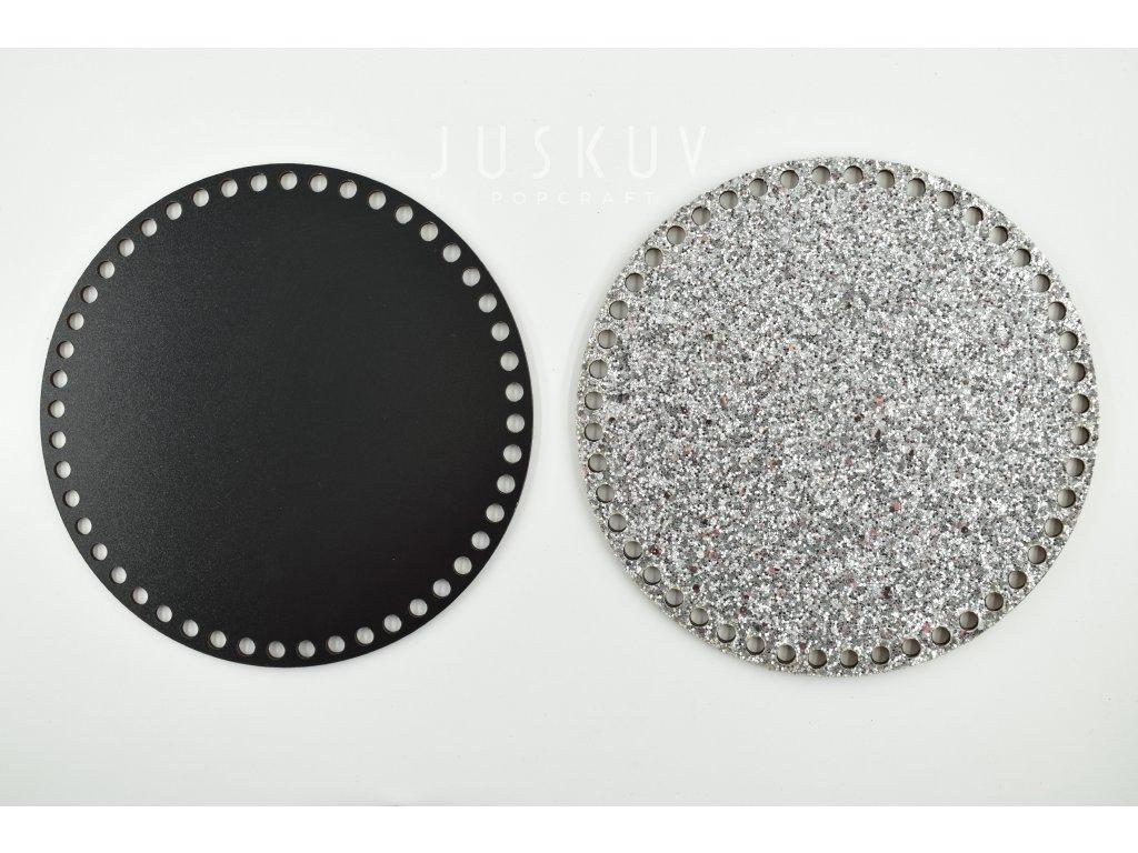 víko - třpytivé stříbrné 5