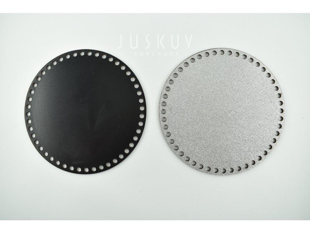 víko - třpytivé stříbrné 4