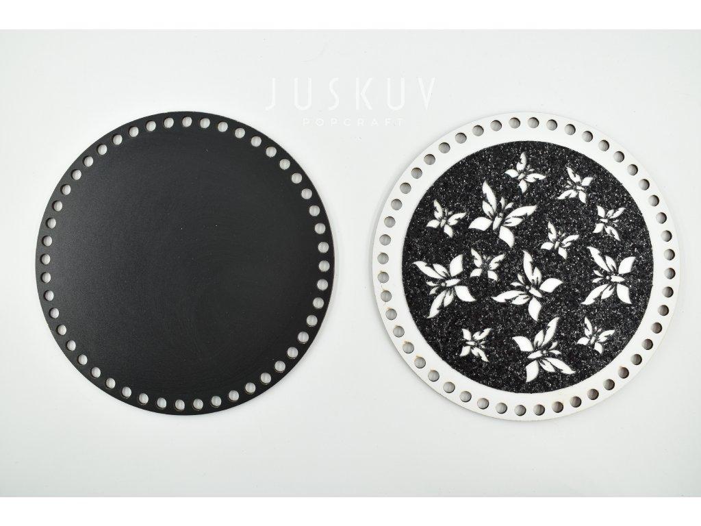 víko - třpytivé, černá v bílém 1