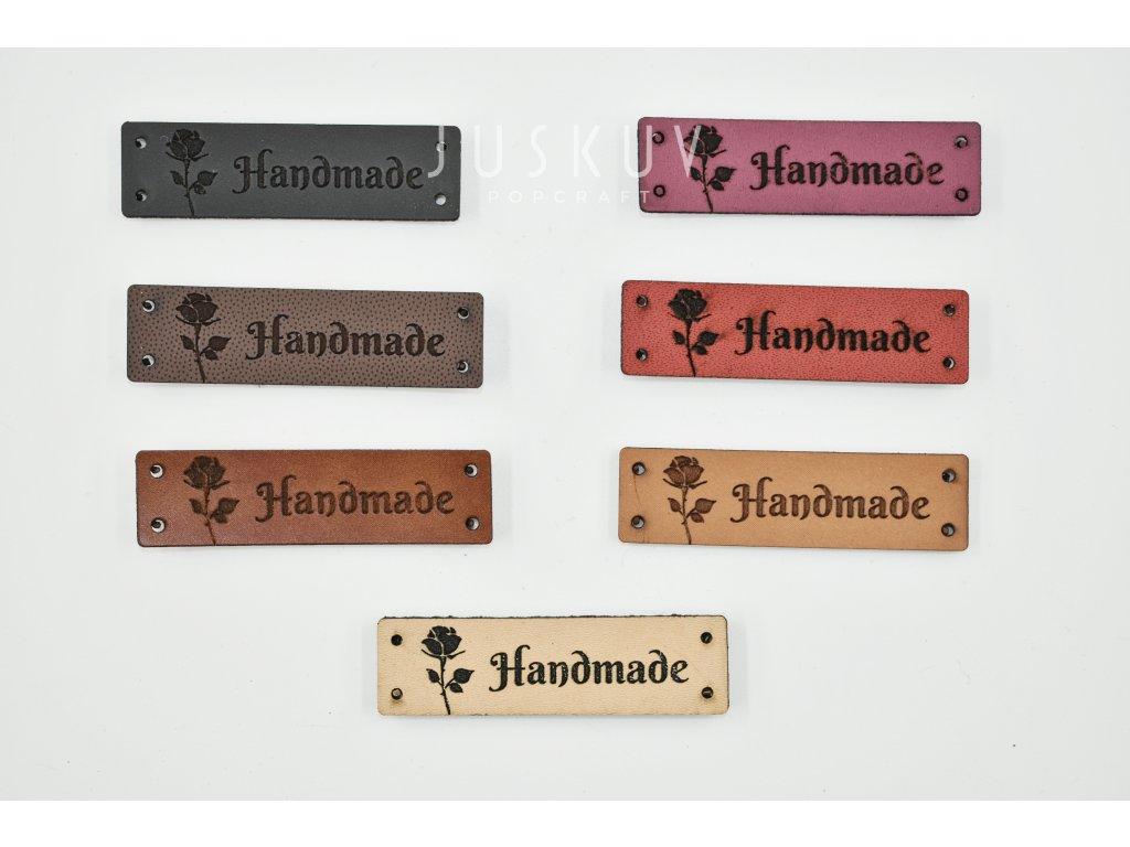 handmade cedulka - nášivka