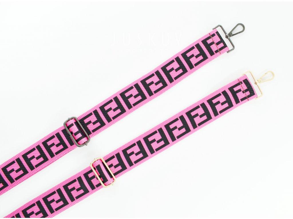 ramenní popruh na tašku šíře 5 cm  - vzor FENDI