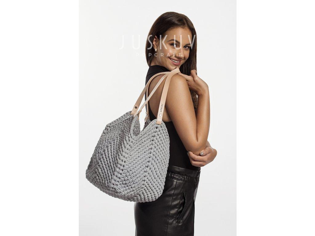 fotonávod háčkovaná plážová nákupní taška
