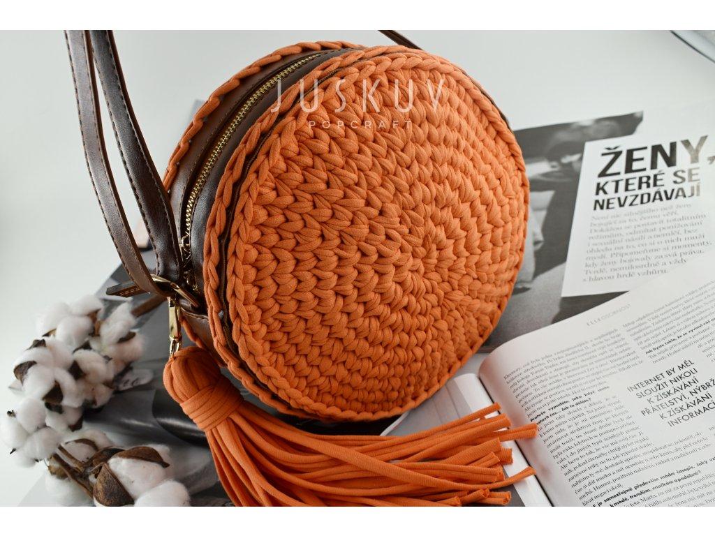 Kulatá kabelka ekokůže - Jenny
