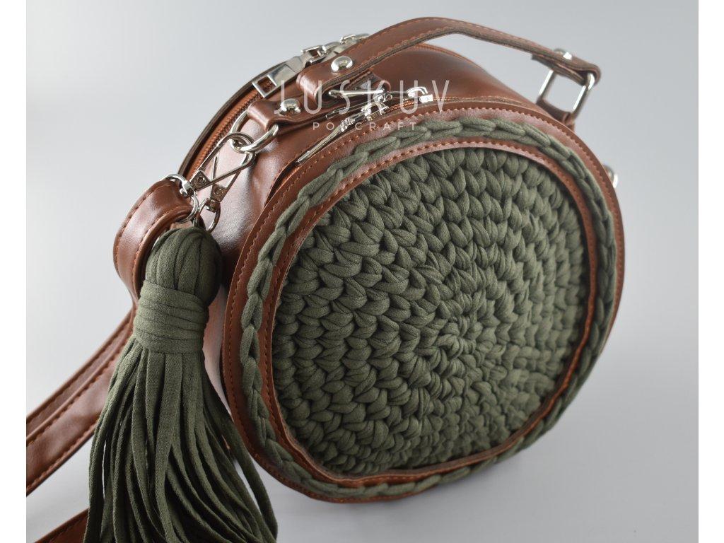 Kulatá kabelka ekokůže - Robyn