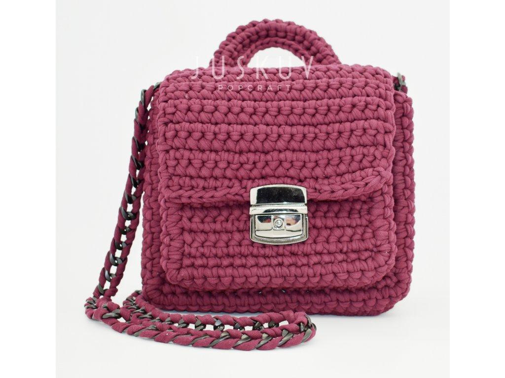Ručně háčkovaná kabelka - Petra