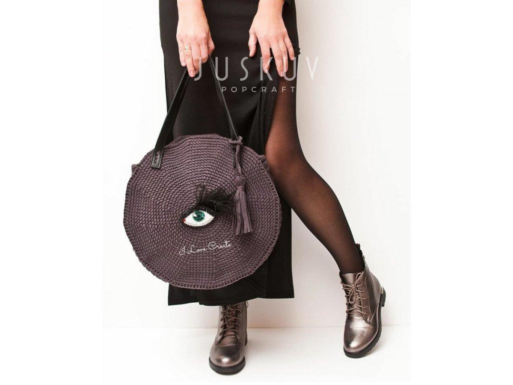 Ručně háčkovaná taška Cirkle black