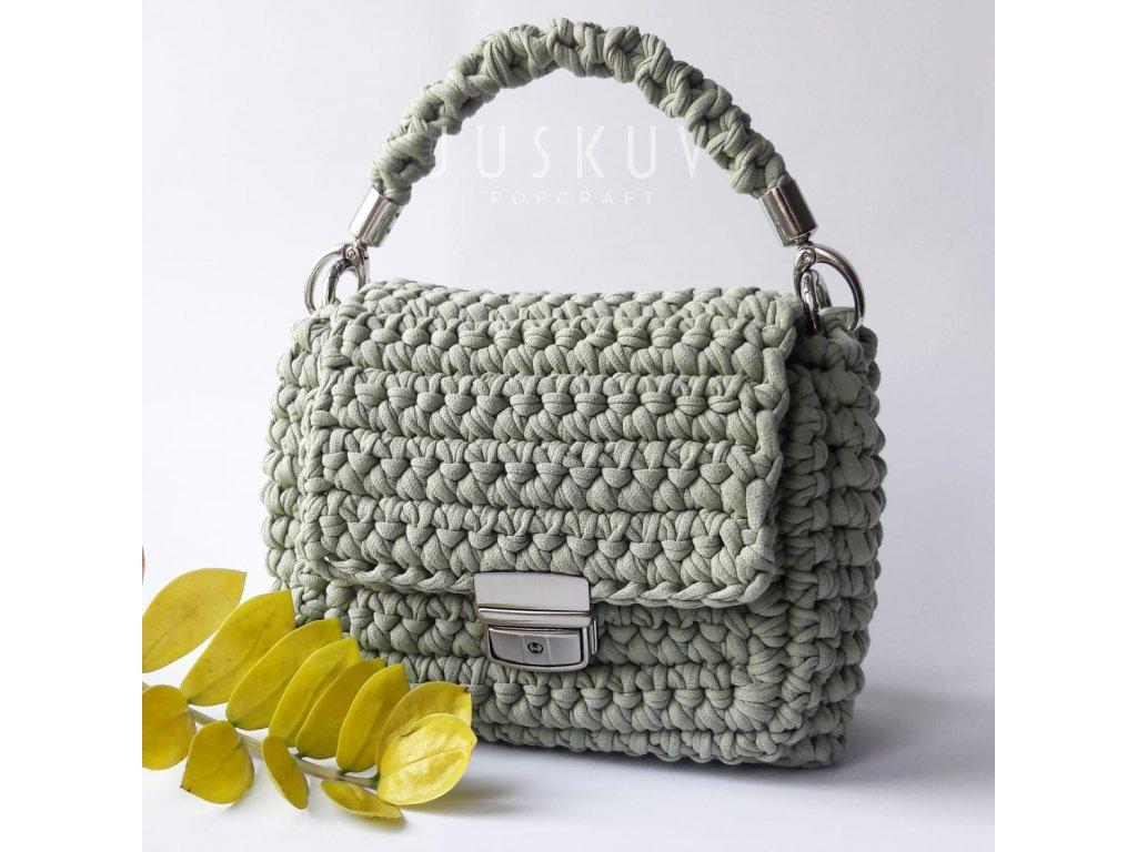 Ručně háčkovaná kabelka - Olivová
