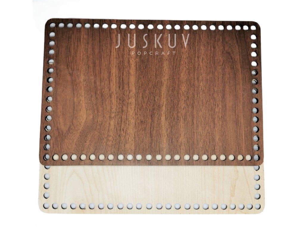 Dřevěné víko, dno - obdélník 29,3 cm x 19,5 cm
