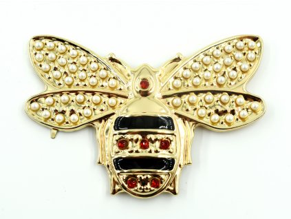 ozdoba na kabelku - včela velká 12 cm x 8 cm