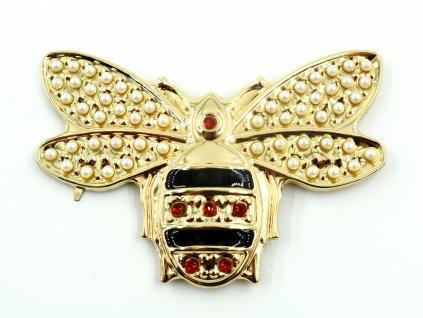 ozdoba na kabelku - včela malá 8 cm x 5 cm