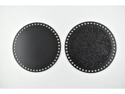 víko - třpytivé černé 1