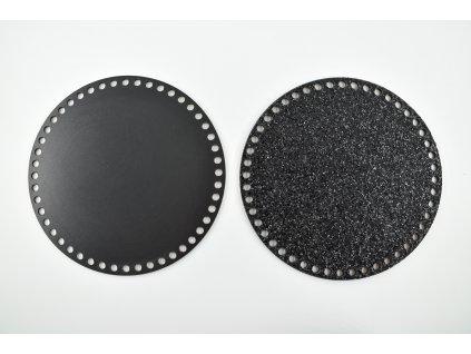víko - třpytivé černé 2