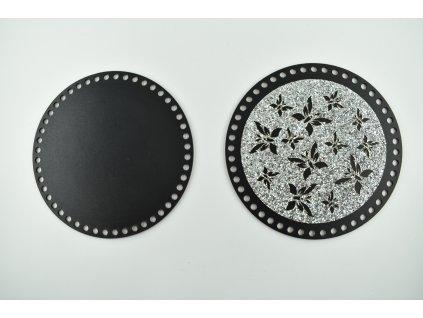 víko - třpytivé stříbrné 1