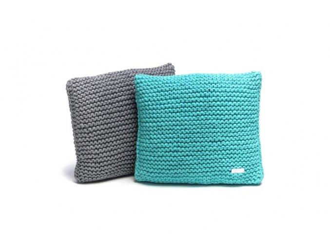 Pletený polštář 40x40 cm zelený mátový