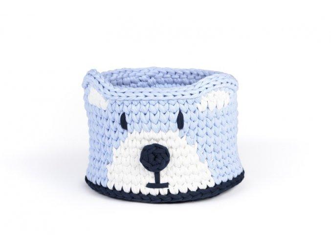 Dětský košík medvěd světle modrý