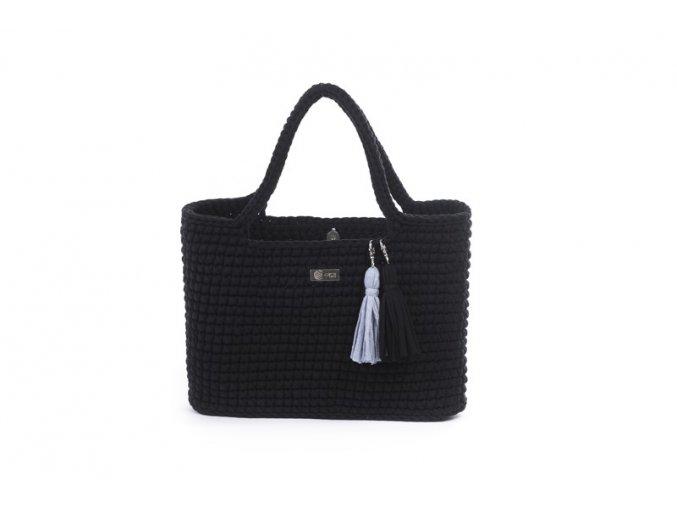 Háčkovaná kabelka Justýna černá
