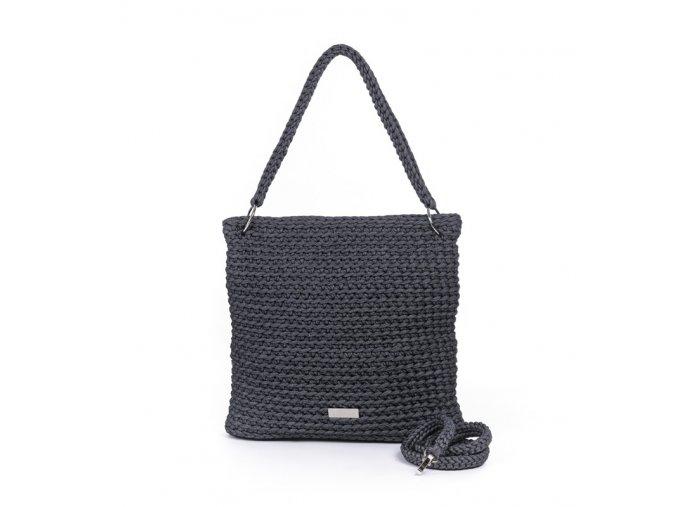 Háčkovaná crossbody kabelka Viktorie černobílý melír