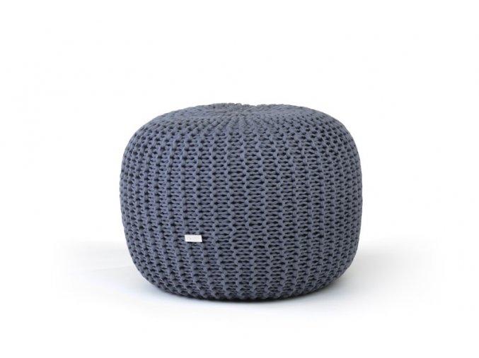 Pletený puf malý šedý
