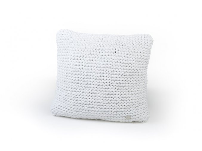 Pletený polštář 40x40 cm světle krémový