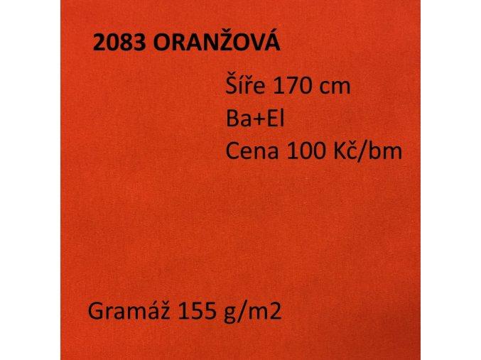 2083 Bavlněný úplet oranžový