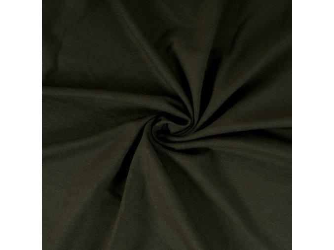 5081 Bavlněný úplet khaki