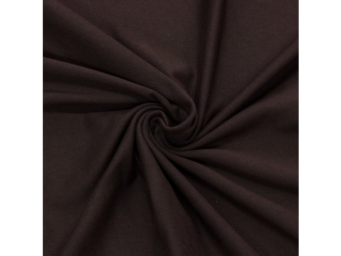 7103 Bavlněný úplet tmavě hnědý