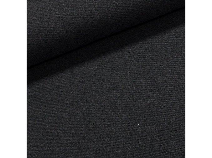 8003 Bavlněný úplet tmavě šedý melír