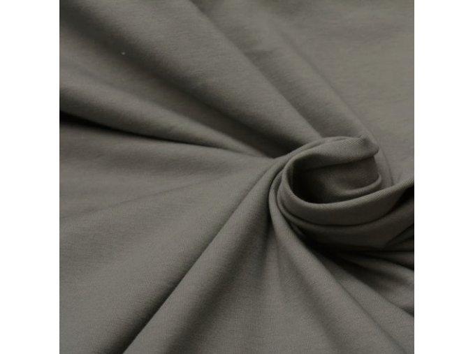 8193 Bavlněný úplet šedý