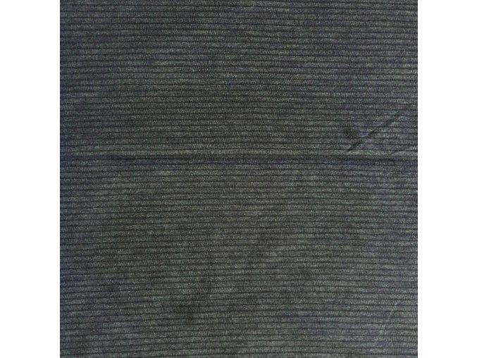 8197 Bavlněný úplet s viskózou šedý proužkovaný