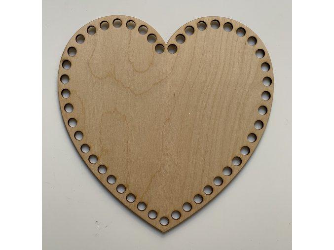 Dřevěné dno ke košíku srdce