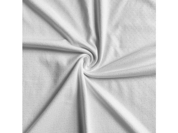 1001 Bavlněný úplet bílý