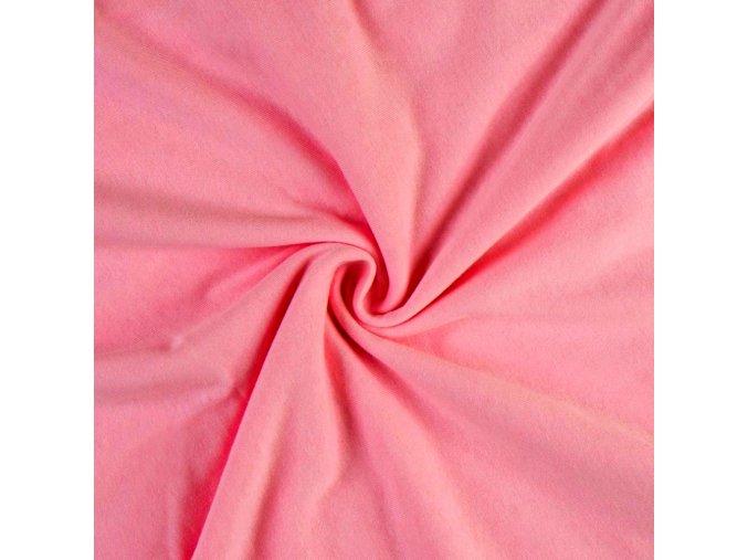 3006 Bavlněný úplet růžový sytý