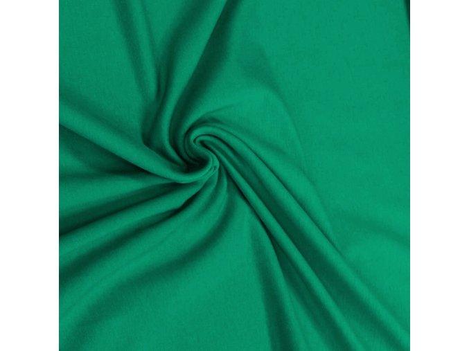 6102 Bavlněný úplet smaragdový
