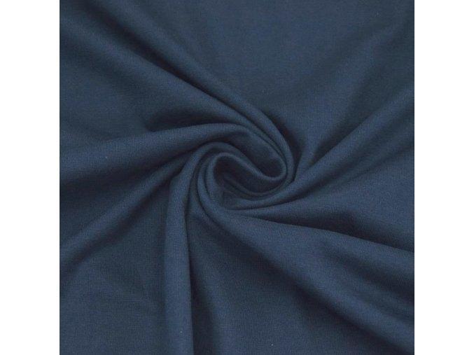 2085 Bavlněný náplet finerib modrý džínový