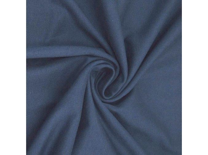8094 Bavlněný úplet středně modrý