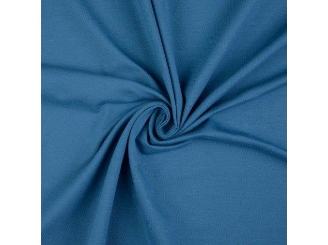 5015 Bavlněný úplet modrý