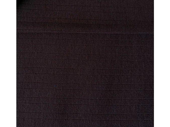 7104 Bavlněný úplet hnědý se vzorem