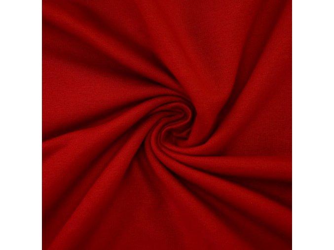 3015 Bavlněný úplet rudý