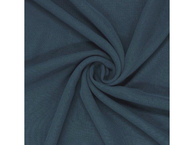 8095 Bavlněný úplet modrý džínový
