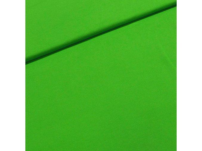 6053 Bavlněný úplet jarní zelená
