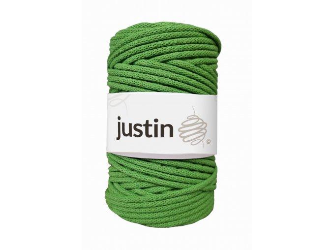 Bavlněné šňůry JUSTIN 5 mm limetka