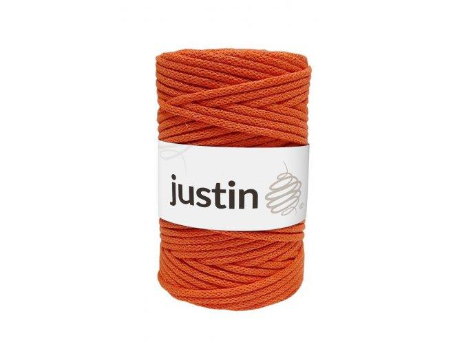 Bavlněné šňůry JUSTIN 5 mm pomeranč