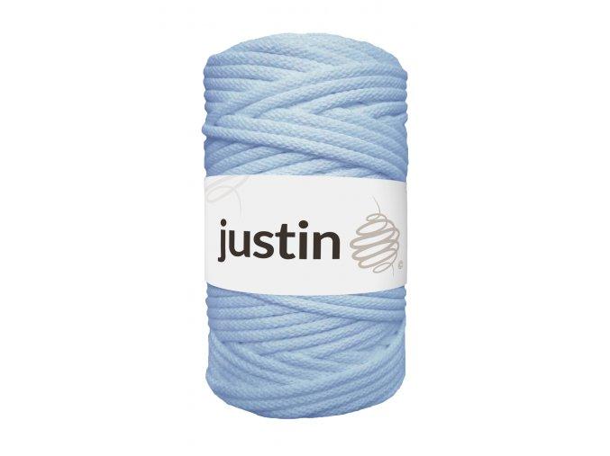 Bavlněné šňůry JUSTIN 5 mm modrá blankytná