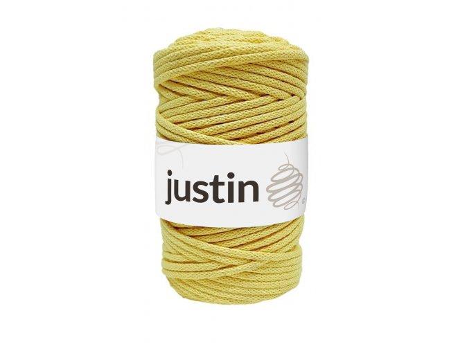 Bavlněné šňůry JUSTIN 5 mm citron