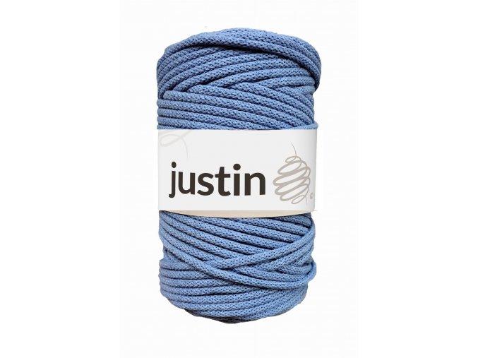 Bavlněné šňůry JUSTIN 5 mm jeans jasný